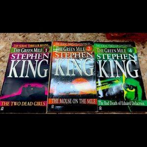 Steven King 3 novel serial parts: The Green Mile